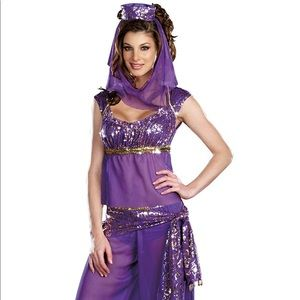 Women's Purple Ally Kazam Genie Costume  Sz M